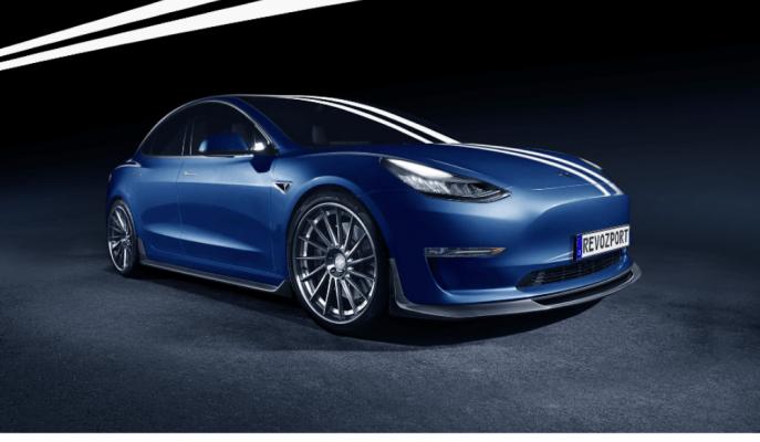 Tesla Model 3'e RevoZport ile Gelen Aero Kitin Özel Duruşu!