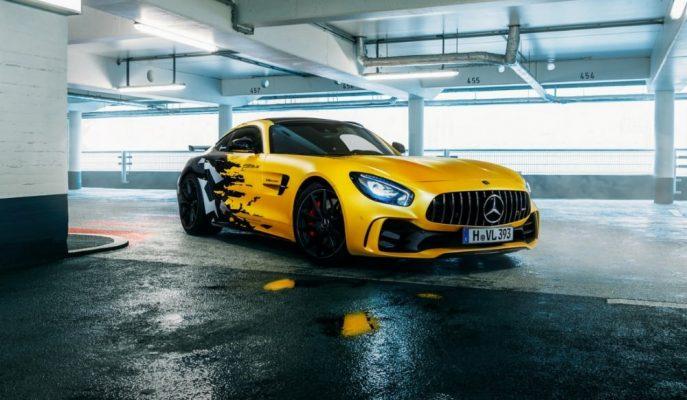 Fostla Dizayn'ın Kamuflajlı Sarı AMG GT R'ı Çekici Duruyor!