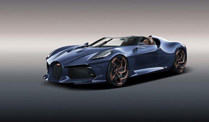 Bugatti La Voiture Noire Üstü Açık Mavi Rengiyle de Etkileyici!