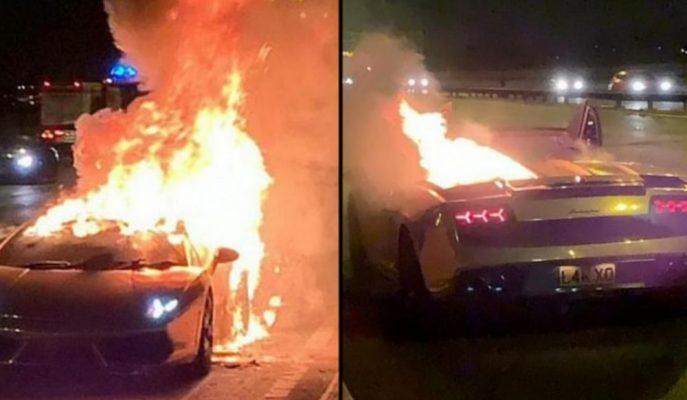 Lamborghini Gallardo Bakım Sonrasında Alev Aldı!