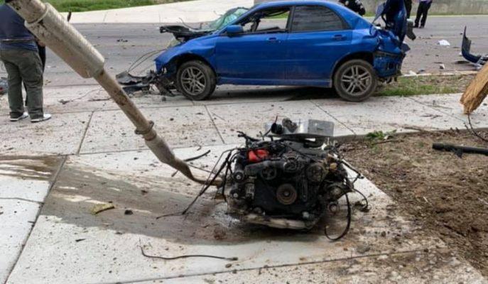 ABD'de Yüksek Hızda Kaza Yapan Subaru WRX'in Son Hali!