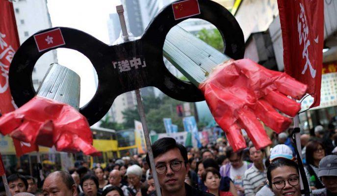 Suçluların Çin'e İadesi Planına Karşı Çıkan Hong Konglular Sokaklara Döküldü