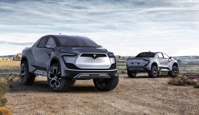 """Tesla'nın """"Kesinlikle Böyle Olmalı"""" Dedirten Pick-up Tasarımı"""
