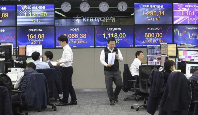 Asya Hisseleri Ticari Risklerle Dört Ayın En Düşük Seviyesine Geriledi