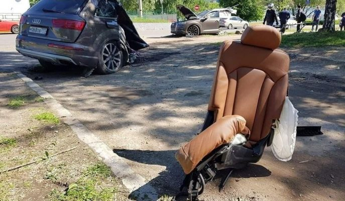 Kaza Sonrası Bu Sefer de Alman SUV Audi Q7 İkiye Bölündü!