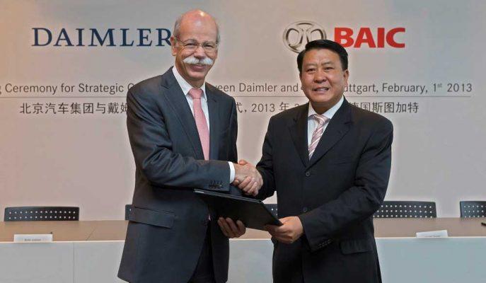 Daimler Hisseleri, Çinli BAIC ile Birleşeceği Söylentileri ile Düştü