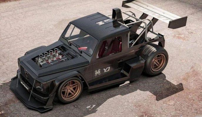 Hot Rod Araç Olayını Mercedes G-Serisi'ne Taşıyan Çılgın Tuningçi!