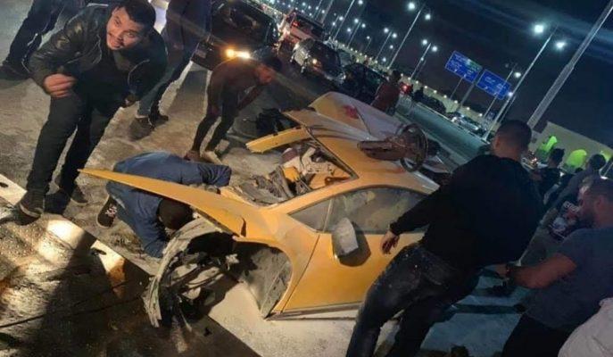 Kahire'de Kaza Yapan Lamborghini Huracan İkiye Bölündü!