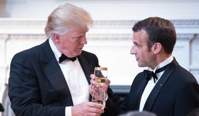 Dijital Vergiyi Macron'un Aptallığı Olarak Tanımlayan Trump, Fransız Şarabıyla Misilleme Yapabilir