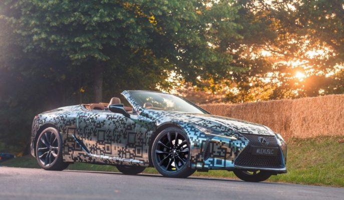 Lexus LC Convertible'ın Prototipi Goodwood Festivali'nde