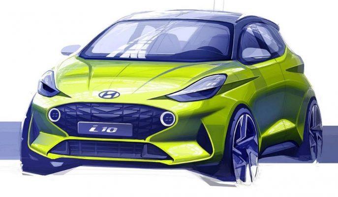 Hyundai'nin Mini i10 Modeline Gelen İlk 2020 Tasarım Görseli!