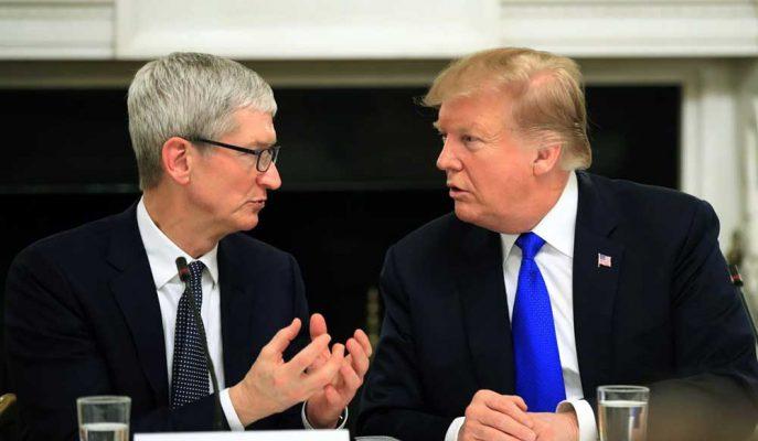 Apple CEO'su ile Başkan Trump Çin'e Yönelik Yaptırımlar Konusunda Görüştü