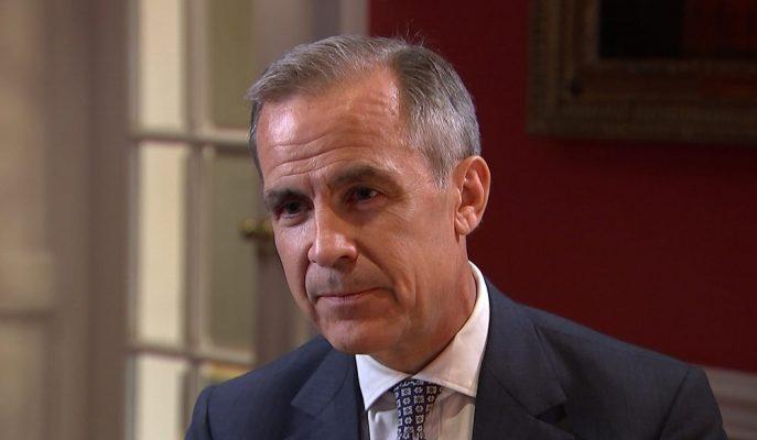 BoE Başkanı Carney Anlaşmasız Brexit'in Olumsuz Etkileri Konusunda Endişeleri Azalttı