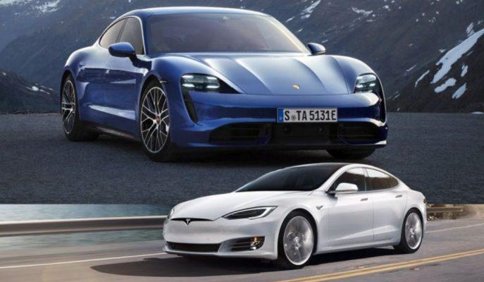 """Porsche'nin """"Turbo""""su ile Dalga Geçen Elon Musk, Model S'ini Taycan için Nürburgring'e Gönderiyor!"""