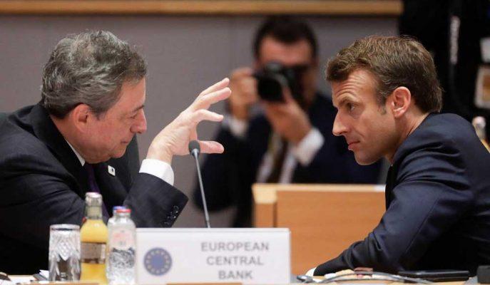 Mario Draghi, Macron'un Daha Fazla Euro Entegrasyonu Çağrısını Destekledi