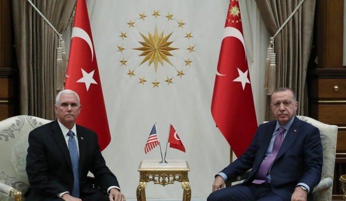 ABD Başkan Yardımcısı Pence, Türkiye Ziyareti Kapsamında Cumhurbaşkanı Erdoğan ile Görüştü