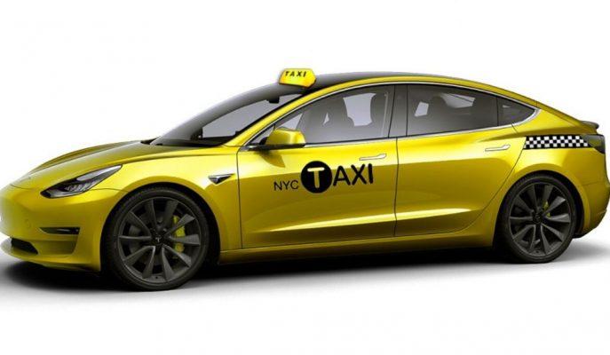 Tesla Model 3 New York'un İlk Tamamı Elektrikli Taksisi Oluyor!