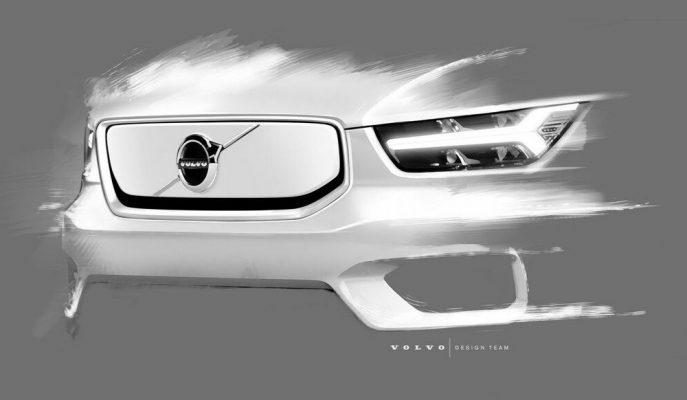Tamamı Elektrikli Volvo XC40 SUV'un Son Teaser Görüntüleri!