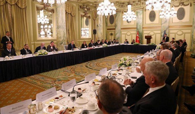 Cumhurbaşkanı Erdoğan Washington'da Türk ve ABD'li Yatırımcılarla Toplantı Yaptı