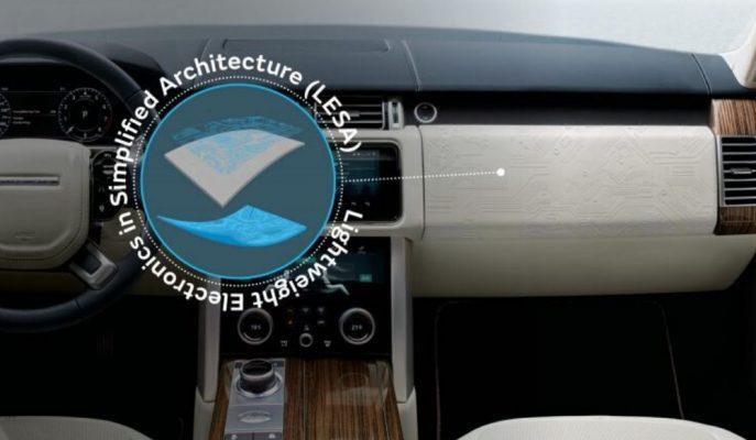 JLR Yapısal Elektroniği Araç Kokpitlerine Entegre Ediyor!