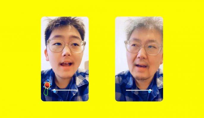 Snapchat'in FaceApp Benzeri Yüz Filtresi Zamanda Yolculuğa Çıkarıyor