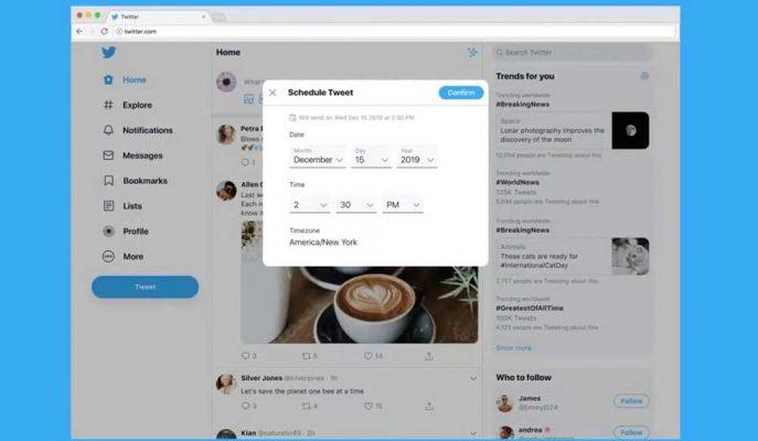 Twitter Paylaşımların Zamanlamasını Kendi Platformuna Taşıyor