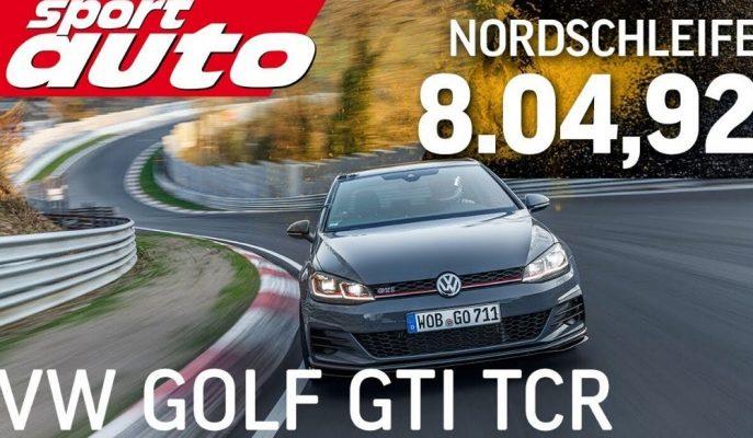 VW Golf GTI TCR Nürburgring Tur Zamanlamasını Aldı!