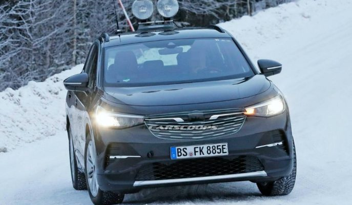 VW'nin Opel Crossover Gibi Gösterdiği EV ID.4 Kış Testinde Görüldü!