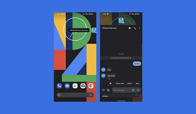 Google'ın Mesajlar Uygulamasına Facebook Messenger'daki Sohbet Balonları Geliyor