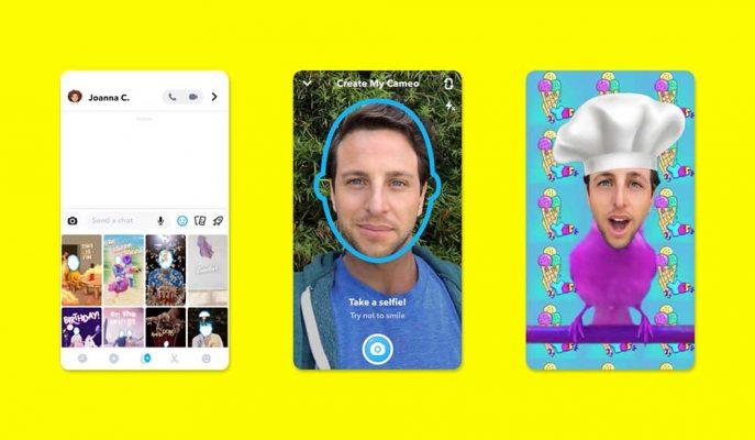 Snapchat'te Kullanıcılar Yüzlerini GIF İçeriklere Yerleştirilebilecek