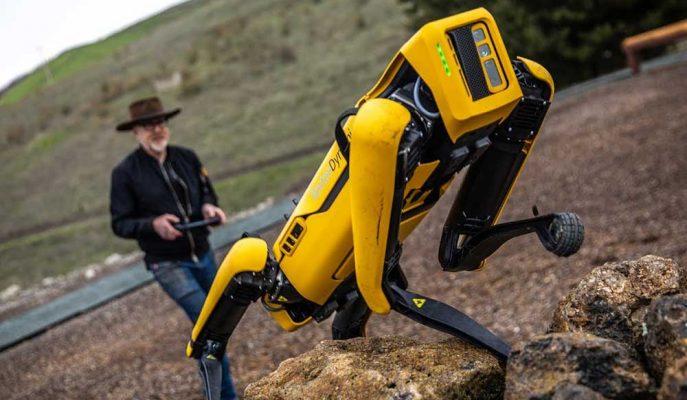 Boston Dynamics'in Robot Köpeği Spot Zorlu Araziye Çıktı