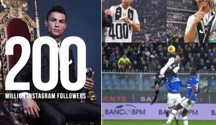 Cristiano Ronaldo, Instagram'da 200 Milyon Barajını Aştı