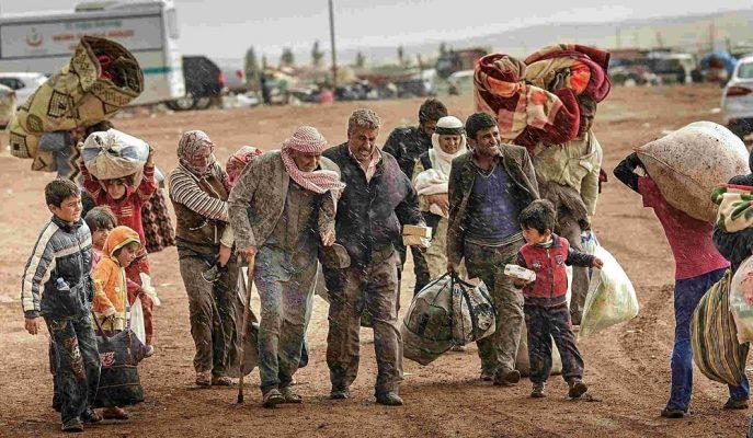 Kasım Ayından Bu Yana İdlib'den 450 Bin Kişi Türkiye Sınırına Göç Etti