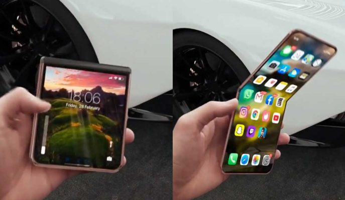 Apple'ın Üzerinde Çalıştığı iPhone 12 Katlanabilir Ekran ile Hayal Edildi