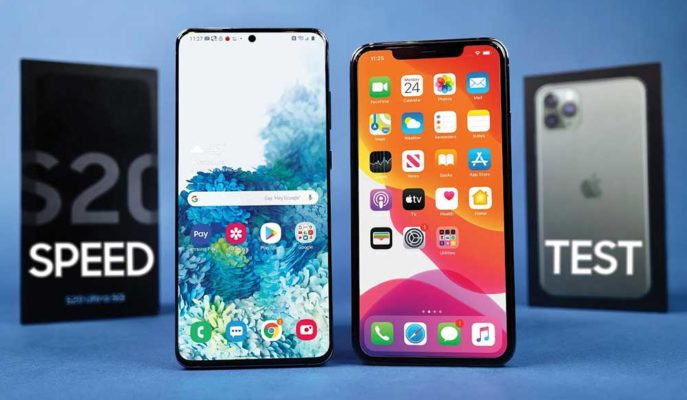 iPhone 11 Pro Max ile Galaxy S20 Ultra Performans Testinde Kozlarını Paylaştı