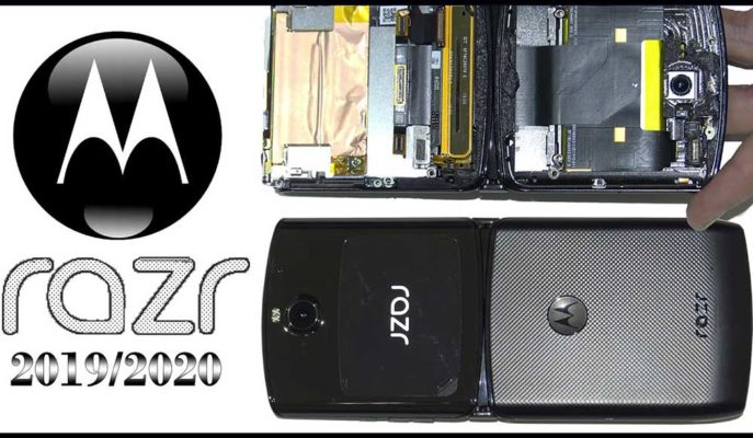 Motorola'nın Katlanabilir Telefonu Razr Parçalarına Ayrıldı