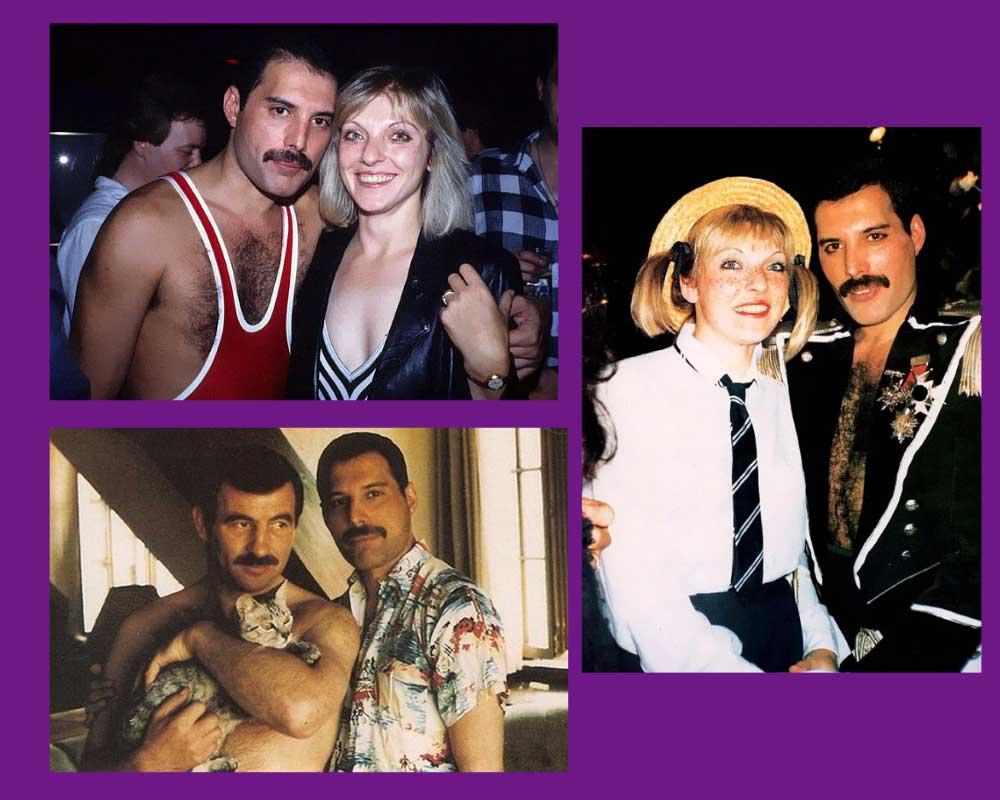 Freddie Mercury ile Mary Austin ve Jim Hutton