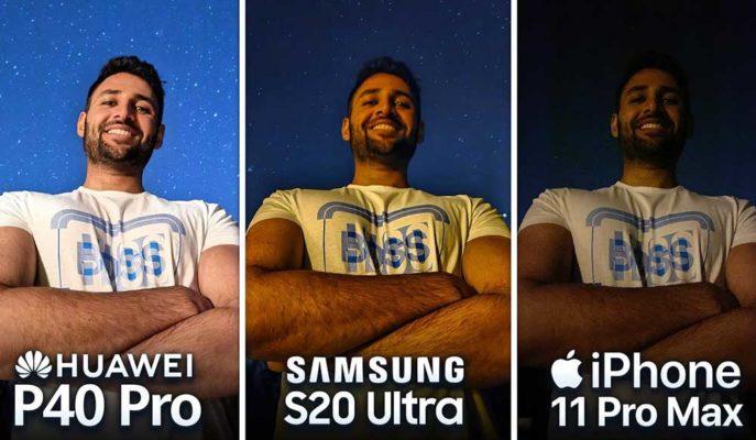 Huawei P40 Pro'nun Kamerası, Rakipleri iPhone 11 Pro Max ve Galaxy S20 Ultra ile Karşılaştı