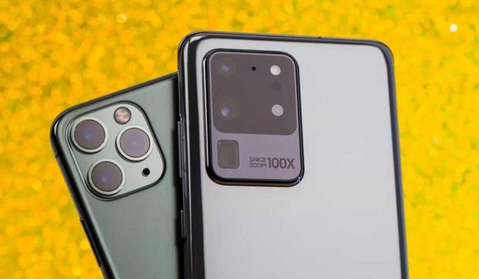 iPhone 11 Pro Max ve Galaxy S20 Ultra Düşme Testinde Kozlarını Paylaştı