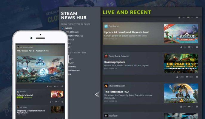 Valve Oyun Platformu Steam için Ayrı Bir Haber Bölümü Oluşturuyor