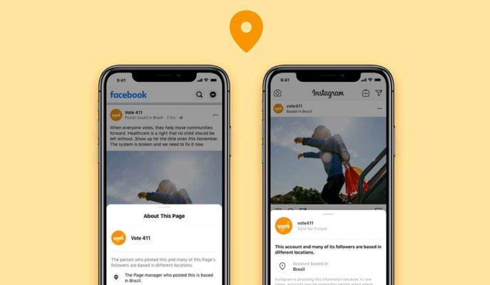 Facebook ve Instagram'da Popüler Hesapların Konum Bilgileri Görünür Olacak