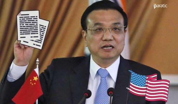 Çin ABD ile Olan Gerilime Rağmen Birinci Faz Anlaşmaya Devam Edecek