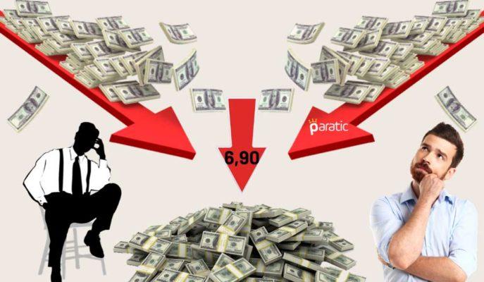 Düşüşe Geçen Dolar 6,90'lara Gerilerken 7 Lira Barajından Uzaklaşıyor