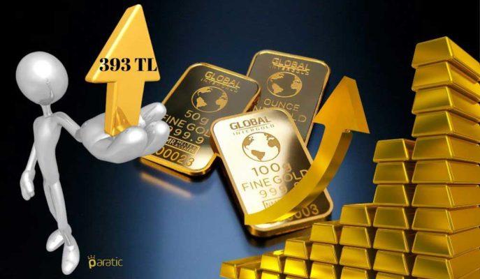 Gram Altın 393 Lira ile Tarihteki En Yüksek Seviyeye Ulaştı