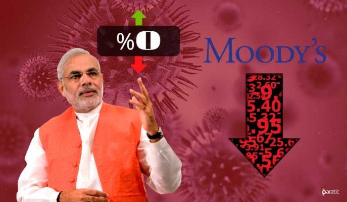 Moody's: Hindistan 2021 Mali Yılında Hiç Büyümeyecek