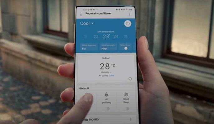 Samsung Klima Reklamında Tam Ekran Telefon için Spoiler Verdi