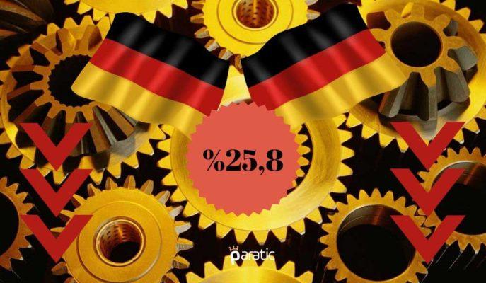 Almanya Fabrika Siparişleri Nisan'da Beklentiyi Aşarak %25,8 Azaldı