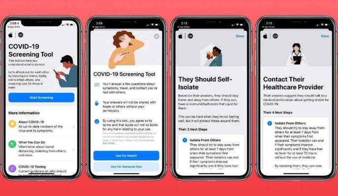 Apple Corona Virüsü için Geliştirdiği Uygulamasına Yeni Paylaşım Özelliği Ekledi