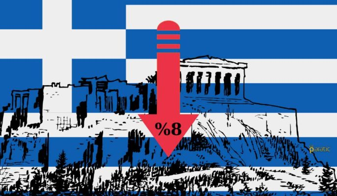 İkinci Çeyrekte %16 Daralması Beklenen Yunanistan için Tahmini 2020 Düşüşü %8