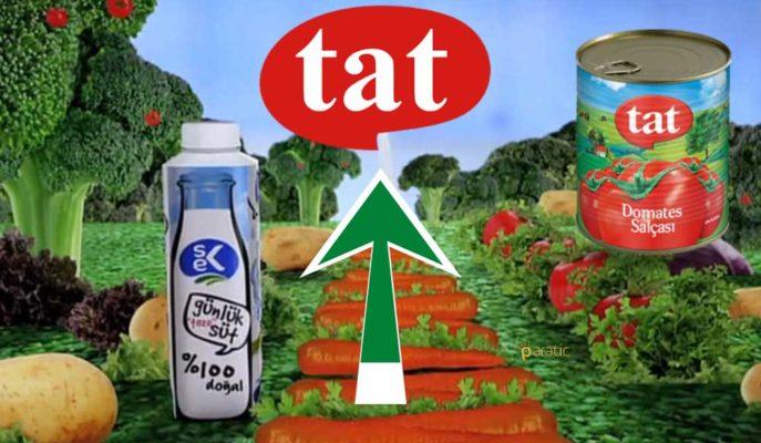Sek Süt'ü Satmayı Düşünen Tat Gıda'nın Hisseleri Güçlü Yükseliyor